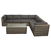 Oxford Rattan L-Shaped Garden Sofa Set
