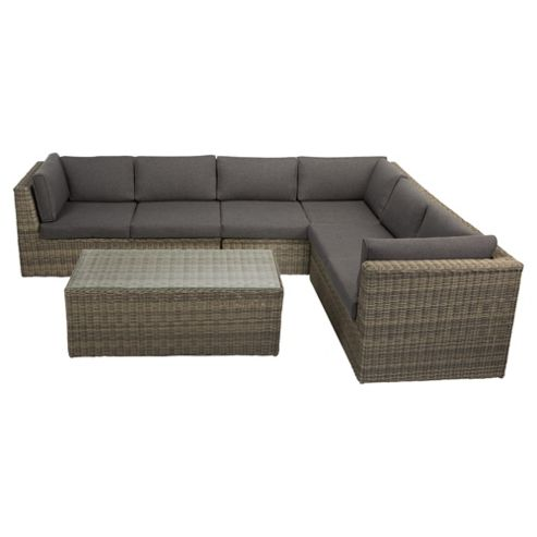 Buy Oxford Rattan L Shaped Garden Sofa Set From Our