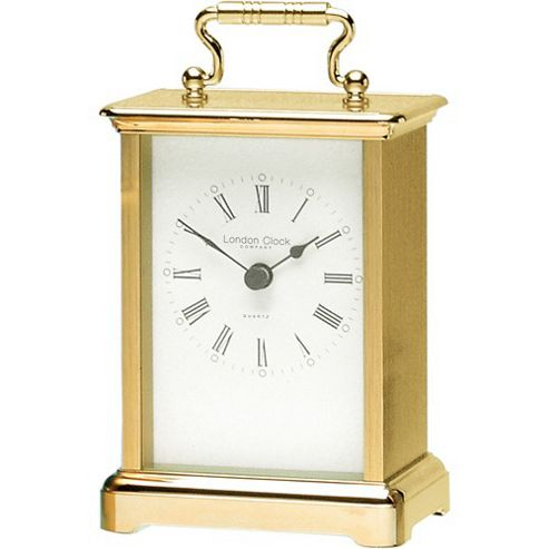 London Clock Company Carriage Mantel Clock in Gold