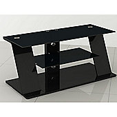 LED/LCD/Plasma MDF & Glass TV Stand up to 52 Inches - Black