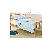 Saplings Cot Bed Quilt & Pillowcase Set (Blue Polka)