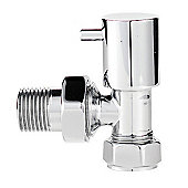 Ultra Minimalist Radiator Angled Valves in Chrome