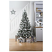 Tesco Alaskan Flocked Christmas Tree, 6ft
