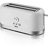 Swan 4 Slice LongSlot Toaster - White