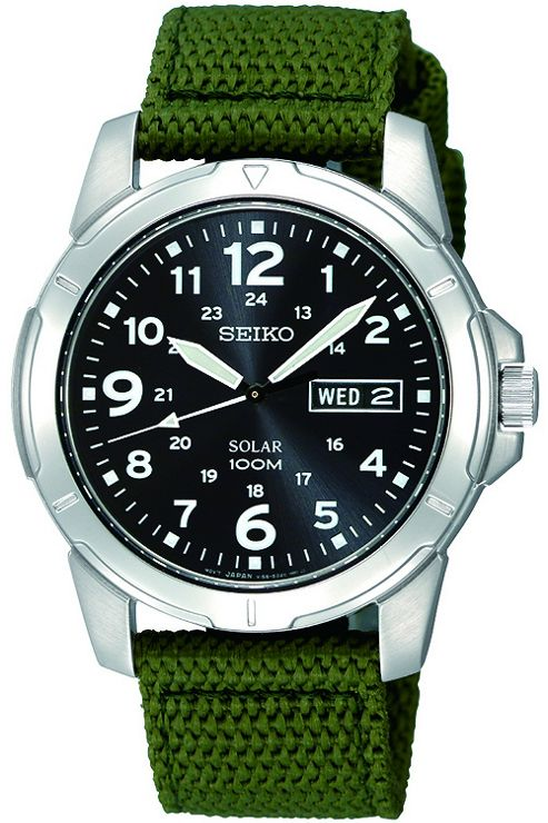 Seiko Solar Gents Strap Watch SNE095P2
