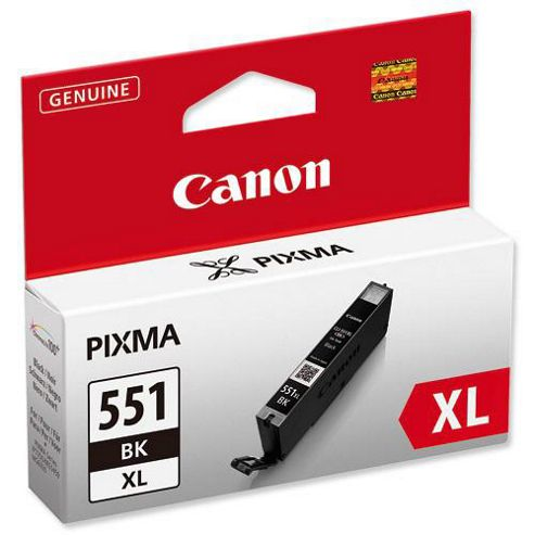 Canon Inkjet CLI 551 XL printer ink cartridge - Black