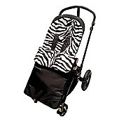 Animal Print Padded Footmuff To Fit Silver Cross Zebra