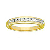 9ct Gold 0.3 Carat Eternity Diamond Ring