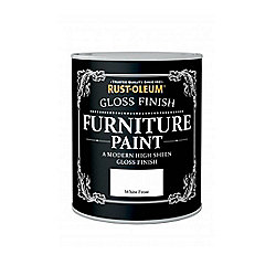 Rust-Oleum Gloss Furniture Paint - White Frost - 125ML