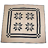Woven Magic Ohio Star-Navy Tea Dyed Crib Throw