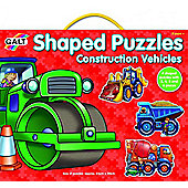 Shaped Puzzles - Construction Vehicles - Galt