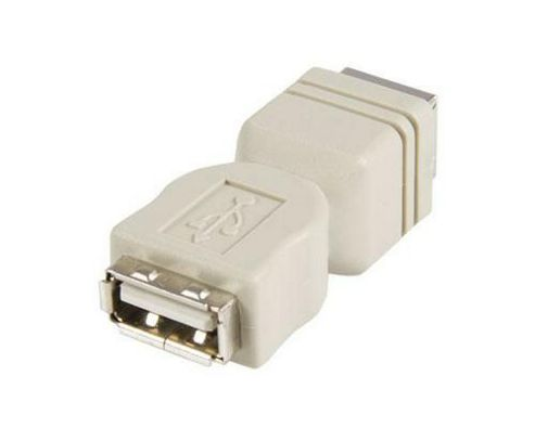 StarTech USB A to USB B Cable Adaptor USB Adaptor 4 pin USB Type A (F) 4 pin USB Type B (F)