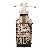 Biba Glass Smoked Glass Soap Dispenser In Black