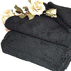 Homescapes Turkish Cotton Black Face Towel