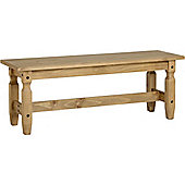 Corona Mexican 4' Dining Bench Distressed Waxed Pine