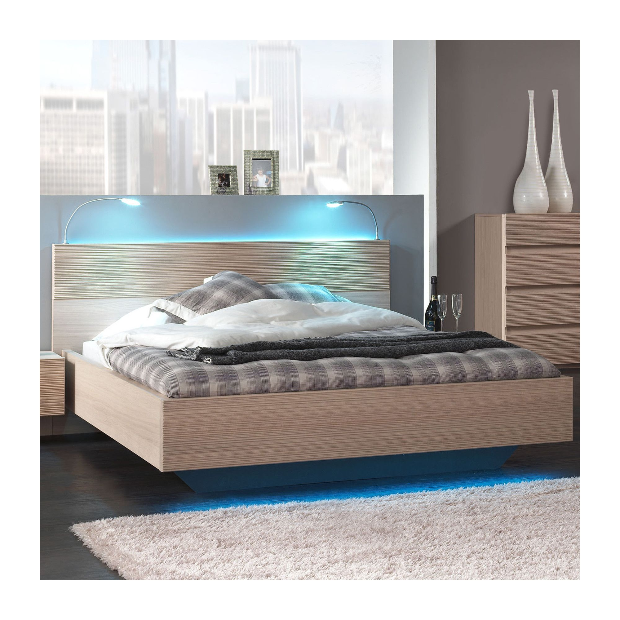 Sleepline Diva Bed - European Double - White Mat Lacquered at Tesco Direct