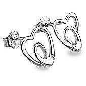 Lily & Lotty Sterling Silver 0.01ct Diamond BETH Earrings