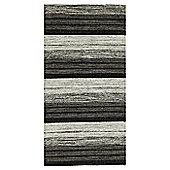 InRUGS Dawn Anthracite Woven Rug - Runner 250cm x 80cm (8 ft 2.5 in x 2 ft 7.5 in)