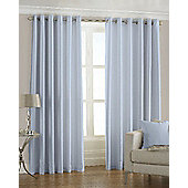 Faux Silk Eyelet Curtains - Duck egg
