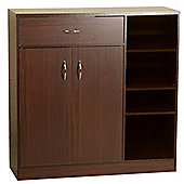 Premium - Large Hallway Tidy Cabinet / Shoe Storage - Walnut