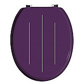 Premier Housewares Toilet Seat - Purple