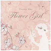 Enchanted Flower Girl Wedding Thank You Card