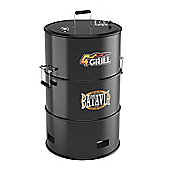 Large Barrel BBQ Pit Smoker with Grill and Hanging Rack Batavia 4 in 1