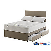 Silentnight Foxton Double Divan Bed with 4 Drawers, 1000 Pocket Ortho