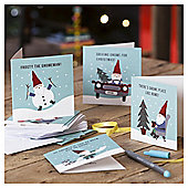 Humour Gnome Christmas Cards, 20 pack