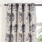 Julian Charles Clara Heather Eyelet Jacquard Curtain -168x137cm