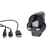 DSi/DSiXL/DSLite/3DS Power Supply Mains & USB