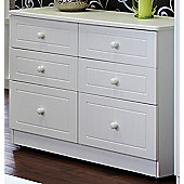 Welcome Furniture Warwick 6 Drawer Midi Chest - White