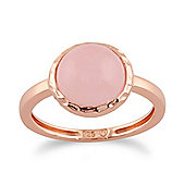 Gemondo Rose Quartz 'Irida' Pastel Ring in 9ct Rose Gold Plated Sterling Silver