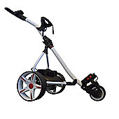 Electric Golf Trolley White & Red