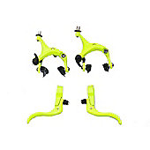 UH Road Dual Pivot Callipers & Brake Levers Fixie in Yellow