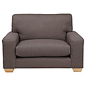 Whitstable Tweed Loveseat, Mocha