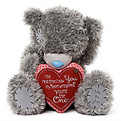 Me to You Tatty Teddy bear holding heart with verse