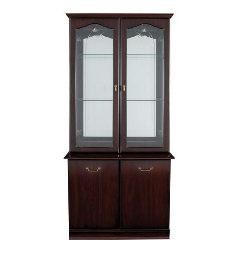 Caxton York 2 Glazed Door Display Cabinet in Mahogany