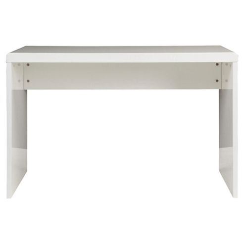 Viva High Gloss Office Desk, White