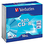 Verbatim 700 MB 80 min 52x CD-R 10 Pack