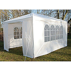 AirWave Party Tent Marquee Fully Waterproof With WindBar - 4x3m in White