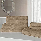 Highams Luxury Egyptian Cotton Towel Bale 7 Piece - Terracotta