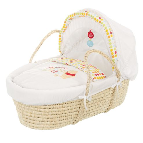 Obaby Disney Winnie the Pooh Moses Basket in White