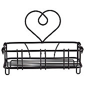 Tesco Black Wire Heart Soap Holder