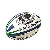 Webb Ellis World Rugby Ball - Navy/Green, Size 4