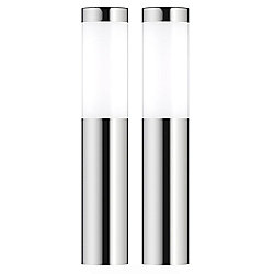 London XT Solar Post Lights - Silver and White