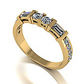 18ct Gold 12 Stone Moissanite Eternity Ring