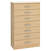 Ideal Furniture Budapest 7 Drawer Chest - Oak