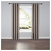 Textured Plain Eyelet Curtains - Taupe