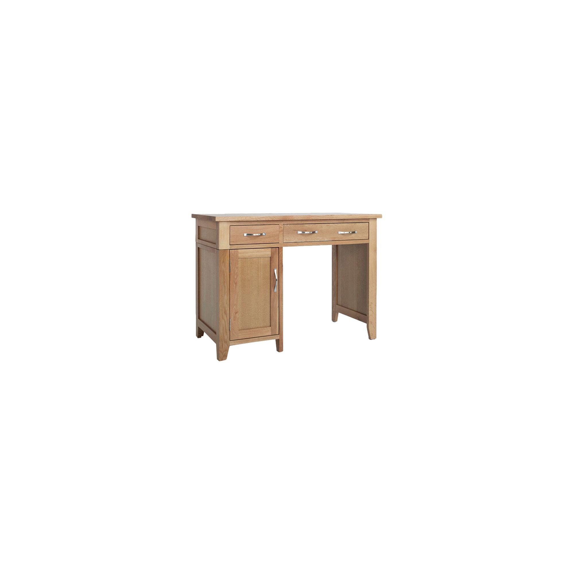 Ametis Sherwood Oak Single Pedestal Desk at Tesco Direct